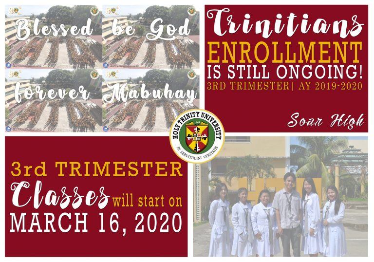 Enrollment for 3rd Trimester SY 2019-2020