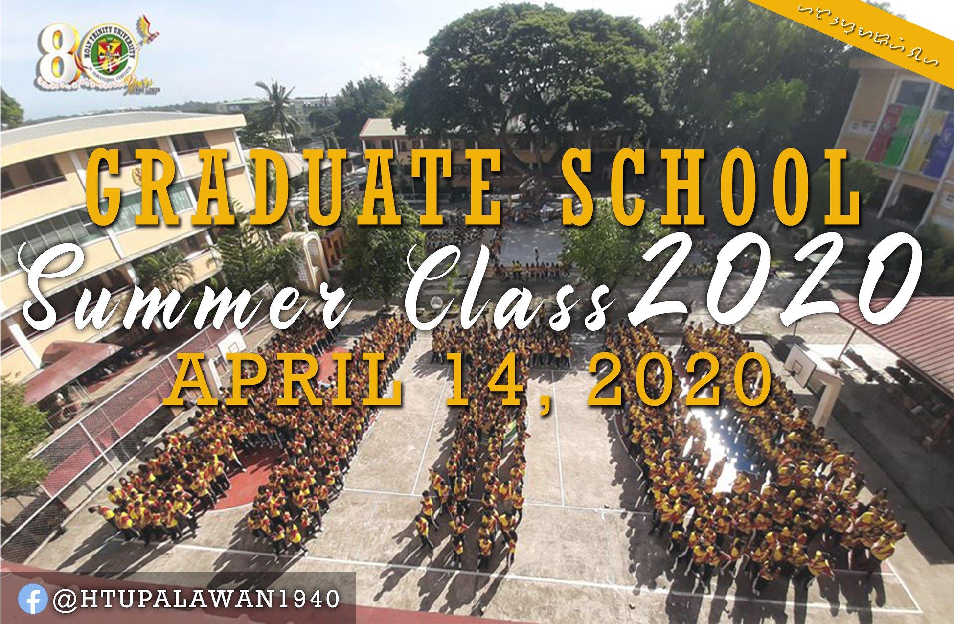 Enrollment for Graduate School Summer 2020