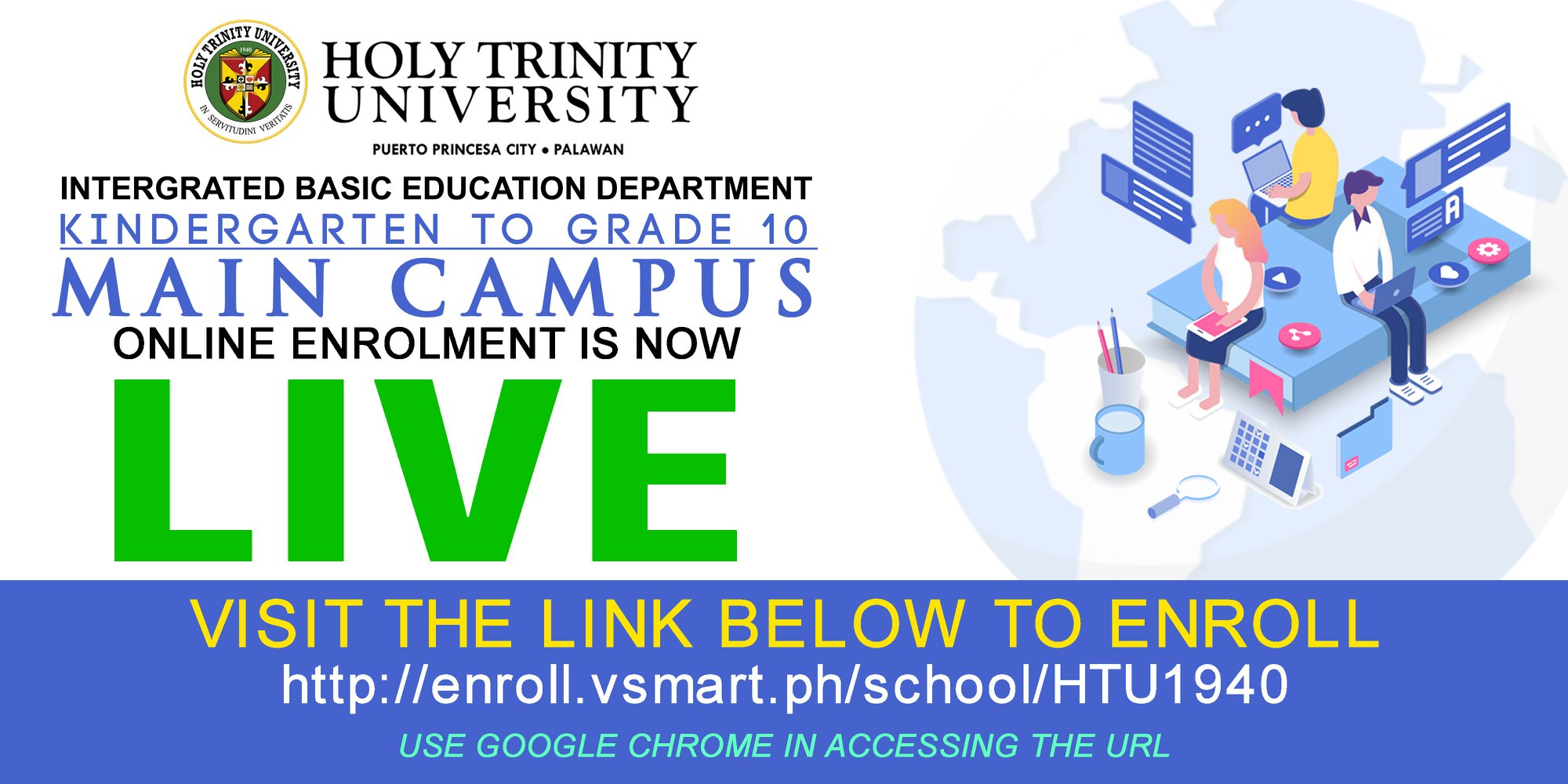 K – Grade 10 Online Enrollment for Main Campus