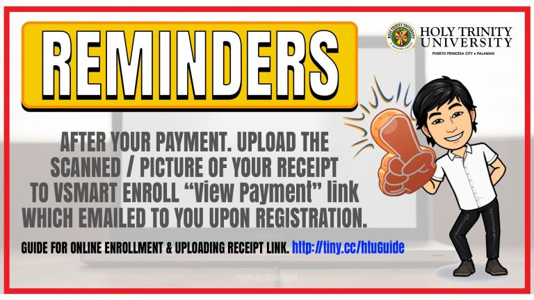 Reminder to all enrollees