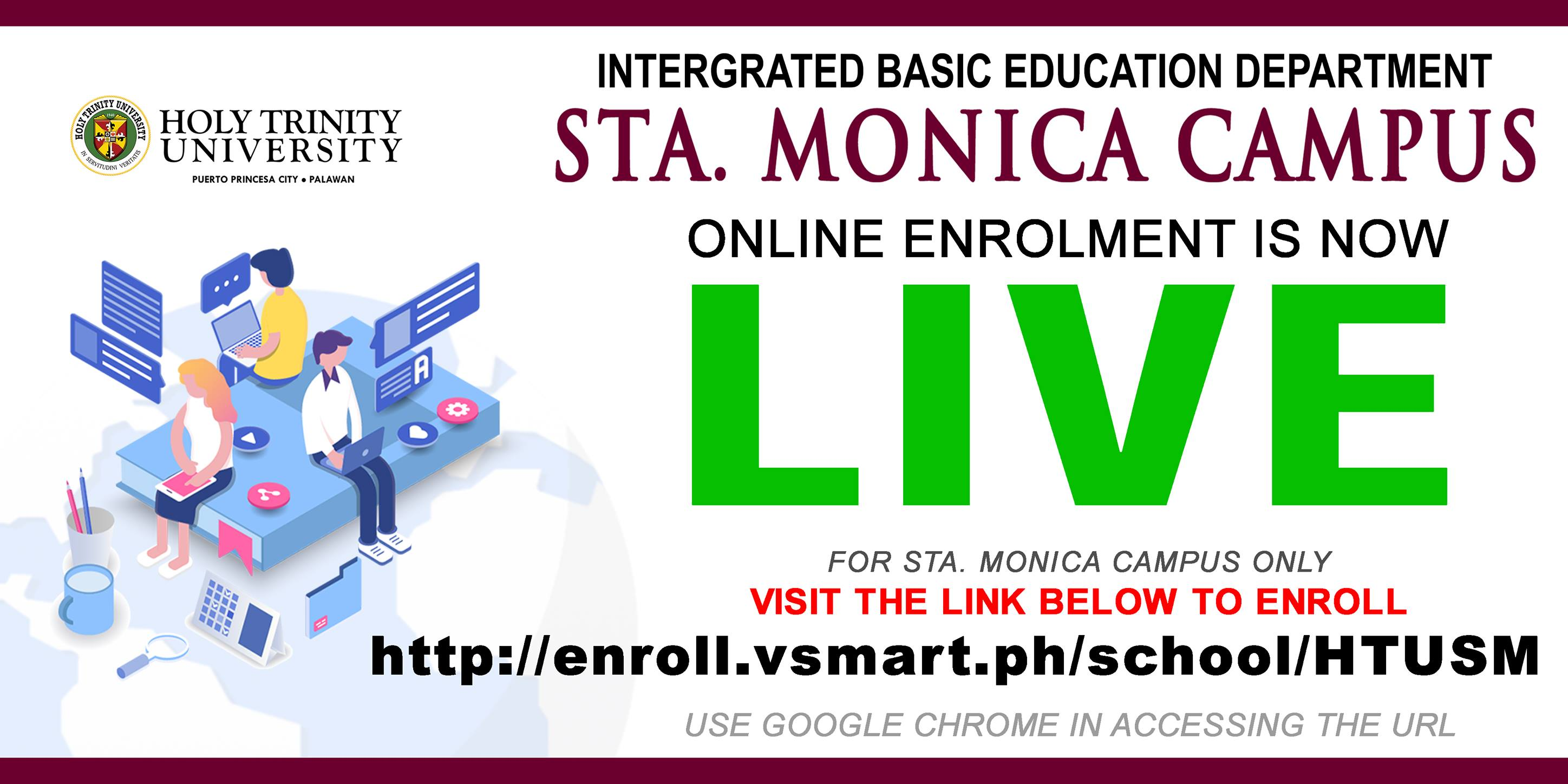 Sta. Monica Campus Online Enrollment